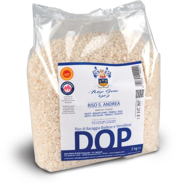 Riso Goio 1929 DOP - Confezione 2kg di riso di Baraggia Biellese e Vercellese