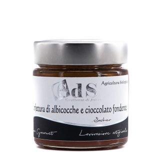 Confettura di albicocche e cioccolato fondente BIO 230g