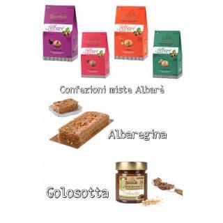 Box degustazione: 4 confezioni Albarè, 1 Albaregina, 1 Golosotta