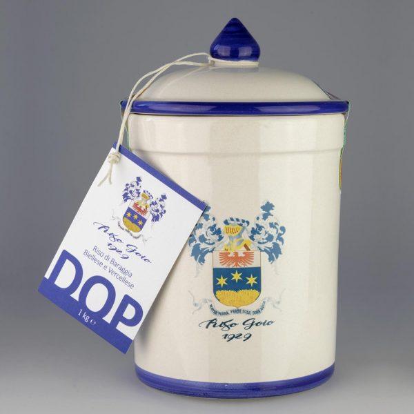 Riso Goio 1929 DOP - Vaso di terracotta + 1kg di riso di Baraggia Biellese e Vercellese